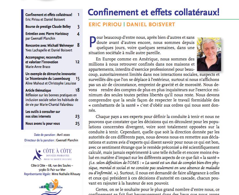 Revue N°2 INCLUSION SOCIALE – Revue scientifique et professionnelle en langue française».